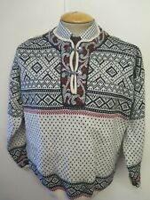 """Traditional Vintage Nordic Norwegian Pattern Clasp Neck Jumper Size M 38-40"""""""