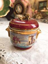 Antique  Original SEVRES FRANCE Dresser Box Jar