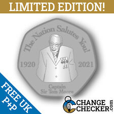 Captain Sir Tom Moore The Nation Salutes You 50p Shaped Novelty Coin LTD 1,000