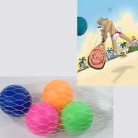 4 Palline In Gomma Per Racchettoni Colorate Palle Giochi Spiaggia Giocare 258
