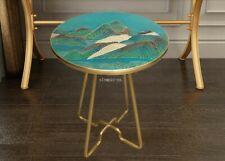 32'' top brass copper fine workmanship home decor rounded desk table statue
