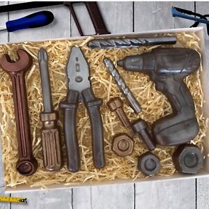 Chocolate Tools Drill Set, Cake Topper, Gift For Him