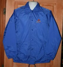 Vintage Stroh's Beer Nylon Satin Snap Jacket S Small Blue Light Lining Lined