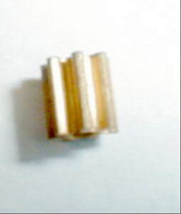 "8 Tooth Tall Brass Pinion Gear 48 Pitch .078"" Motor Shaft 1/4"" Tall Slot Car NOS"