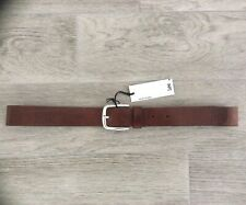 MENS LEE JEANS REAL LEATHER JEAN BELT TAN BROWN SIZE 100 = 36 - 38 WAIST