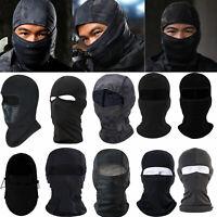 Lycra Balaclava Full Face Mask Men Women Cycling Bike Ski Winter Warm Neck Black