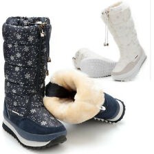 Womens Fur Lined Warm Winter Snow Boots Waterproof Knee High Boots Shoes Mgbox