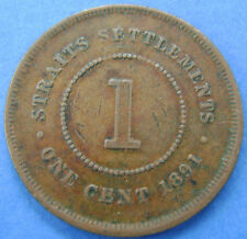 Straits Settlements   1 cent one cent 1891 Queen Victoria KM# 16
