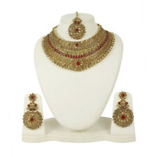 4138 Indian Style Bollywood Gold Plated Wedding Fashion Jewelry Necklace Set