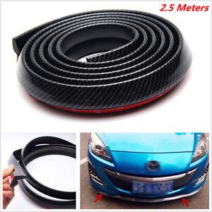 2.5m Carbon Fiber Car Front Bumper Lip Splitter Spoiler Valance Body Protector