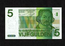 Netherlands 5 Gulden banknote, P95a, 28.3.1973