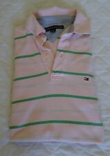 TOMMY HILFIGER BABY PINK SHORT SLEEVED POLO SHIRT SIZE LARGE