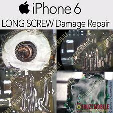 iPhone 6 LONG SCREW DAMAGED REPAIR SERVICE NO DISPLAY FIX CIRCUIT TRACE