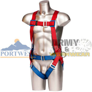 Portwest 2 Point Safety Harness Comfort Fall Arrest Anchorage Work Safety Height
