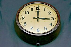 Vintage Smiths Bakelite Wind Up Wall Clock Original Condition Not Woking-Project