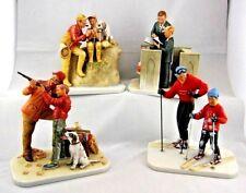 Norman Rockwell Dad's Boy Porcelain Figurine Set Gorham First Edition