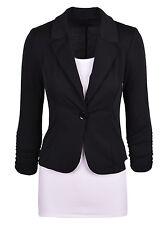 Damen Blazer Anzüge One Knopf Office Formell Mantel Jacke Business Übergröße