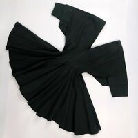 Auth Azzedine Alaia Black Cotton Fitted Full Skirt Skater Dress Size M UK12 US8