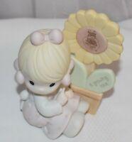 Vintage 1987 Enesco Precious Moments A Growing Love Figurine Sun Flower