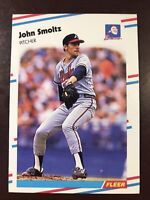 1988 Fleer John Smoltz Atlanta Braves #U-74 Rookie Card NM