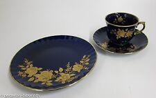 Kaffeegedeck Wunsiedel Bavaria Porzellan Echt Kobalt GoldKaffeetasse +UT Teller