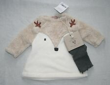 Next Baby Girl Cream Fleece Novelty Tunic & Tights Set Age up to 3 months New