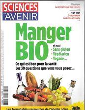 SCIENCES ET AVENIR N° 832--MANGER BIO SANS GLUTEN-VEGETARIEN-VEGANE/ABEILLE NOIR