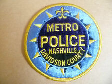 Patches: NASHVILLE METRO DAVIDSON COUNRT POLICE US PATCH (NEW*10x10cm)
