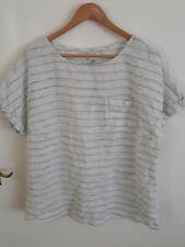 Nicole Farhi linen top/tunic. Black and white stripes, size L/14. BNWT.