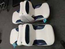 WISE 8WD1225-0031 BAYLINER LOUNGE SEAT WITH BASE WHITE & BLUE (QTY 2) MARINE