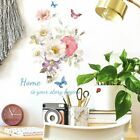 Flower Butterfly Wall Stickers Art Decal Home Room Decoration Ornament Elements