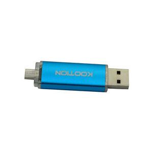 32GB USB 2.0 Flash Drive OTG Dual Port Memory Stick Blue Pen Drives for OPPO 20