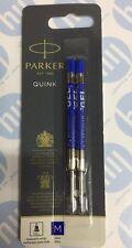 Parker Quink Gel Ball Pen Refill Medium - Blue Blister Pack of 2 1950364