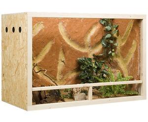 Holz Terrarium 120 x 60 x 80 cm OSB Platte, Seitenbelüftung (L x T x H)