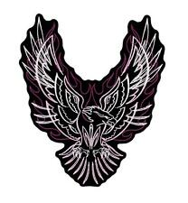 Pink & Purple Pinstripe Upwing Eagle Embroidered Patch Iron or Sew HLPM21034
