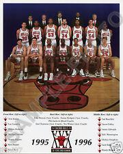 1995-96 CHICAGO BULLS NBA WORLD CHAMPIONS 8x10 TEAM PHOTO 72-10 RECORD