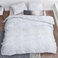 300TC Fragile Grey Bedding House 100% Cotton Quilt Doona Cover Set Queen King