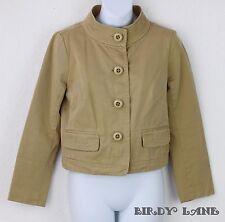 J Crew Classic Cotton Twill Chino Jacket Large Buttons Mandarin Collar Womens 4