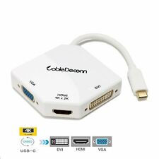 CableDeconn USB Type-C to HDMI/DVI/VGA Adaptor Converter 4K Cable fr MacBooK Pro