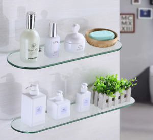 Bathroom Shower Shelf Oval Glass Storage Racks Soap Holder Wall mount New Modern