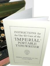 Imperial Portable Typewriter Instruction Manual Reproduction