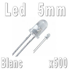 Lot de 500 LED 5mm Blanches 16000mcd