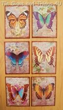 Butterfly Wall Art Tin Metal Sign Set country french victorian vintage postcard