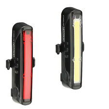 Bike Bicycle Safety Light Combo Set USB Rechargeable Front 110 Lumen Hotrod 50