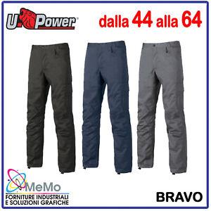 PANTALONE UOMO DA LAVORO cargo INVERNALE multitasche U POWER in nero blu grigio