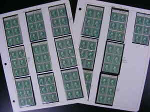 United States Booklet Panes Sc.# 498e w/ Plate #s Choice of 16   most MNH   s795