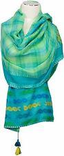 Schal Baumwolle Karo scarf écharpe Türkis  Grün cotton check green turquoise