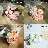 Artifical Fake Plastic Rose Silk Flower Wedding Party Bouquet Home Decor Lovely