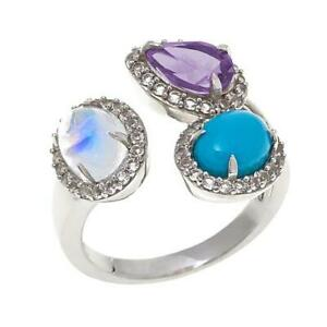 """HSN Colleen Lopez """"Tucson Treasures"""" Gemstone Sterling Silver Ring Size 7 $320"""