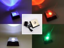 Large 7 LED Combination Multi Color White Light Mirrored Stand Base AC + Battery